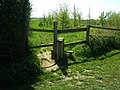 Stile on footpath South from Gilden Way - geograph.org.uk - 407468.jpg