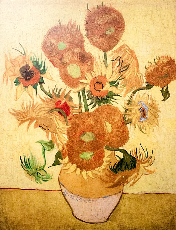 Filestill Life Vase With Fifteen Sunflowers Jh 1562 My Dream