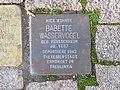 Stolperstein Babette Wasservogel, 1, Brunnenallee 23, Bad Wildungen, Landkreis Waldeck-Frankenberg.jpg