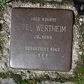 Stolperstein Bad Bentheim Wilhelmstraße 36 Joel Wertheim.JPG