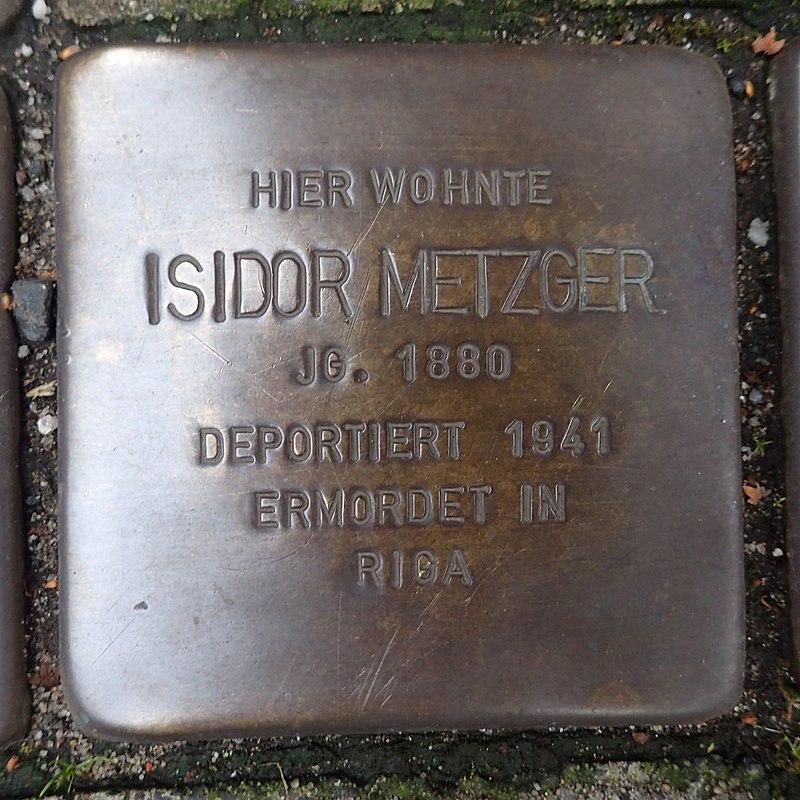 Stolperstein für Isidor Metzger