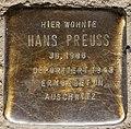 Stolperstein Eulerstr 21 (Gesbr) Hans Preuss.jpg