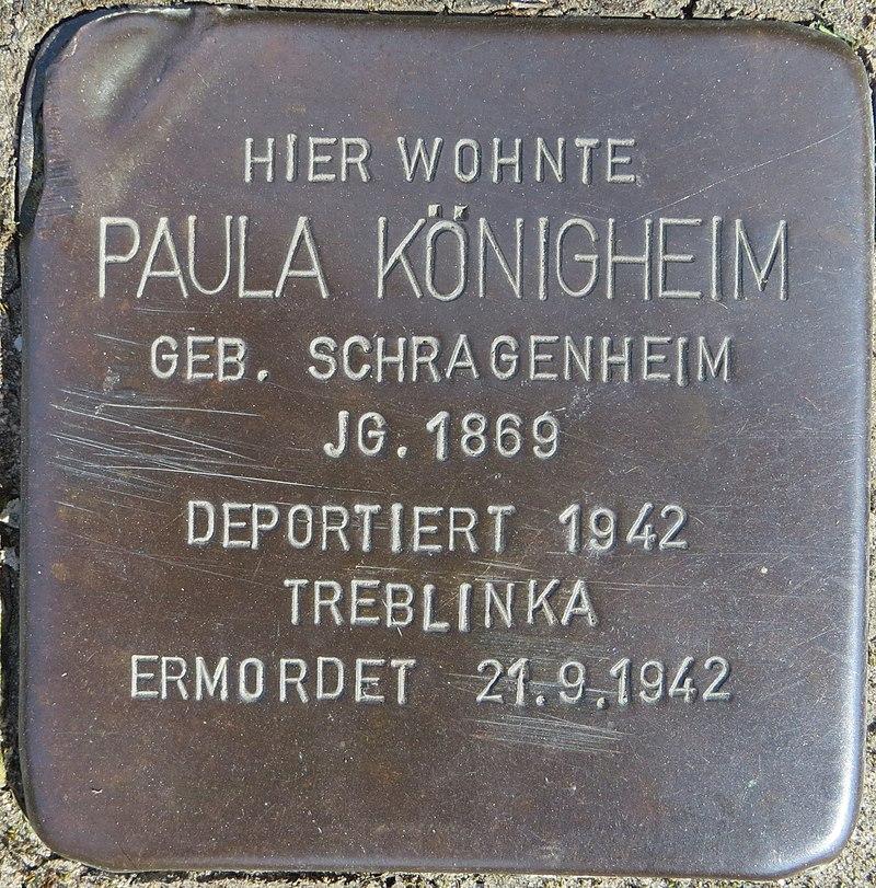 Stolperstein Königheim, Paula - Nordstr. 7-8, Sehnde.jpg