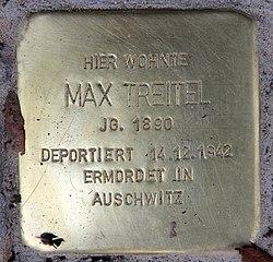 Photo of Max Treitel brass plaque