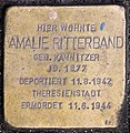 Stolperstein Konstanzer Str 3 (Wilmd) Amalie Ritterband.jpg