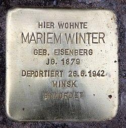 Photo of Mariem Winter brass plaque