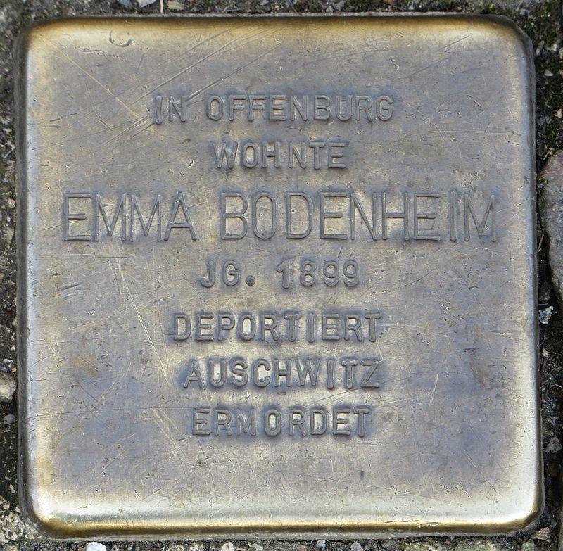 Stolperstein Offenburg Emma Bodenheim.jpg