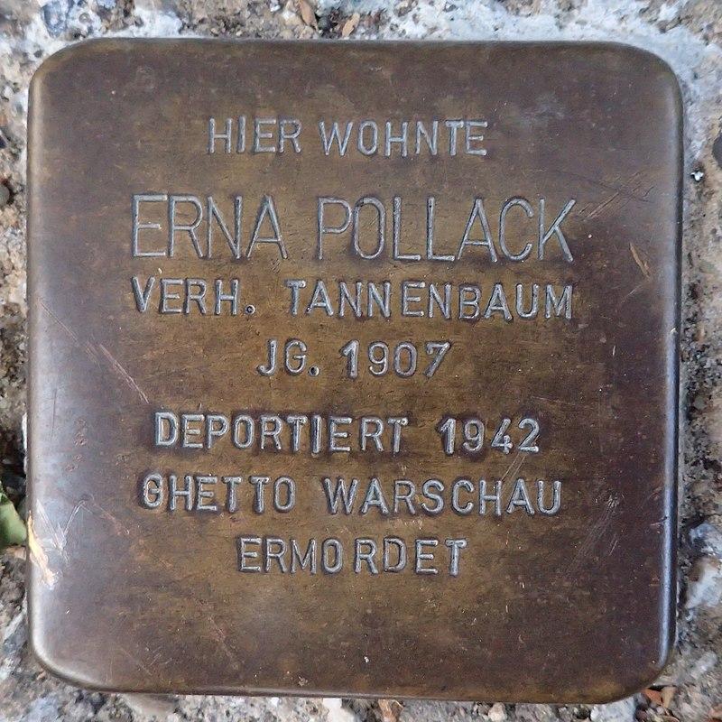 Stolperstein für Erna Pollack verh. Tannenbaum