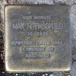 Photo of Max Rothschild brass plaque