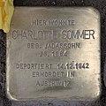 Stolperstein Westfälische Str 62 (Halsee) Charlotte Sommer.jpg