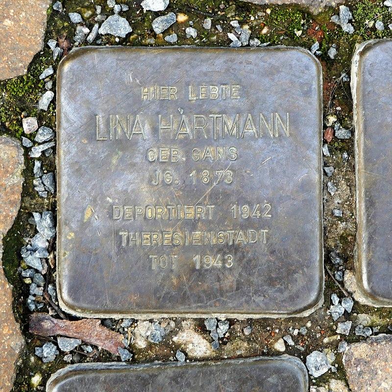 Stolperstein für Lina Hartmann, Färbergasse 2, Wurzen.JPG