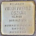 Stolperstein für Oszkar Vidor Weisz (Budapest).jpg