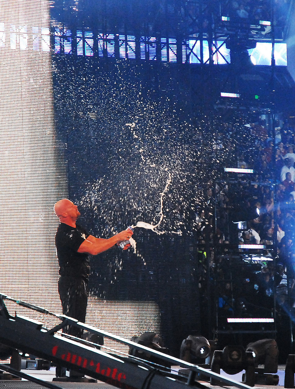 Stone Cold smashing beers