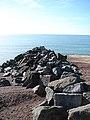 Stone breakwater protecting Shoreham Harbour - geograph.org.uk - 1012747.jpg