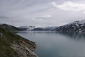 Saltfjellet - Image: Storglomvatnet from Holmvassdammen