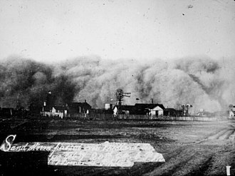 Midland, Texas - Sandstorm, 1894
