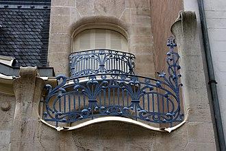 Hôtel Brion - Image: Strasbourg Hôtel Brion, balcon