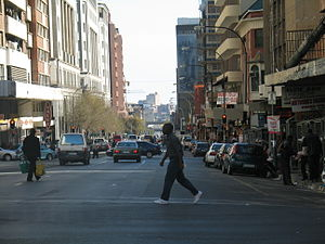 Zoo City - A street in Hillbrow in 2006