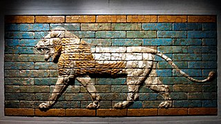 striding lion of Ishtar from Babylon