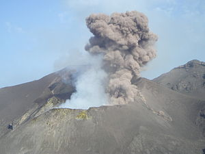 Stromboli - From a helicopter