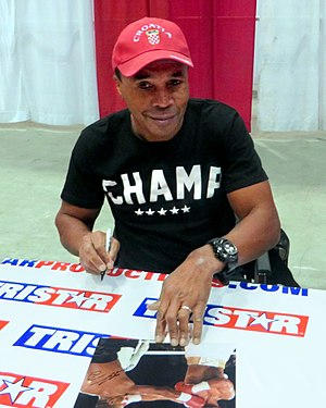 Sugar Ray Leonard - Image: Sugar Ray Leonard in Houston in Jan 2014