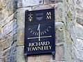 Sundial on the southern corner of the wall at Towneley - geograph.org.uk - 1136864.jpg