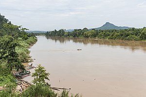 Kinabatangan River - Kinabatangan River at the bridge near Batu Tulug.