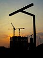 Sunset behind the new Customs and Excise building @ Spoor Noord (3964531411).jpg