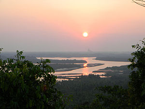 Pattuvam - Sunset viewed from a hill near Pattuvam U.P school.
