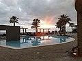 Sunset rays, Calheta Beach Hotel, Madeira 1.jpg
