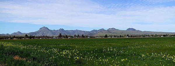 Sutter Buttes in northern California