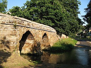 Sutton, Bedfordshire - Packhorse bridge and ford on Potton Brook