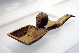 swimmer-shaped kohl spoon, Louvre E11122