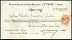 Switzerland Lucerne 1914 receipt with revenue 6 5c - 146 - E 1 14.jpg