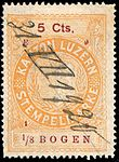 Switzerland Lucerne 1918 revenue 6 5c - 165 - E 9 18.jpg