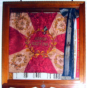 14th Regiment of Jazlowiec Uhlans - Regimental flag, kept at the Sikorski Institute in London