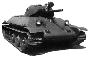 T-34 - Pre-production prototype A-34 with a complex single-piece hull front.