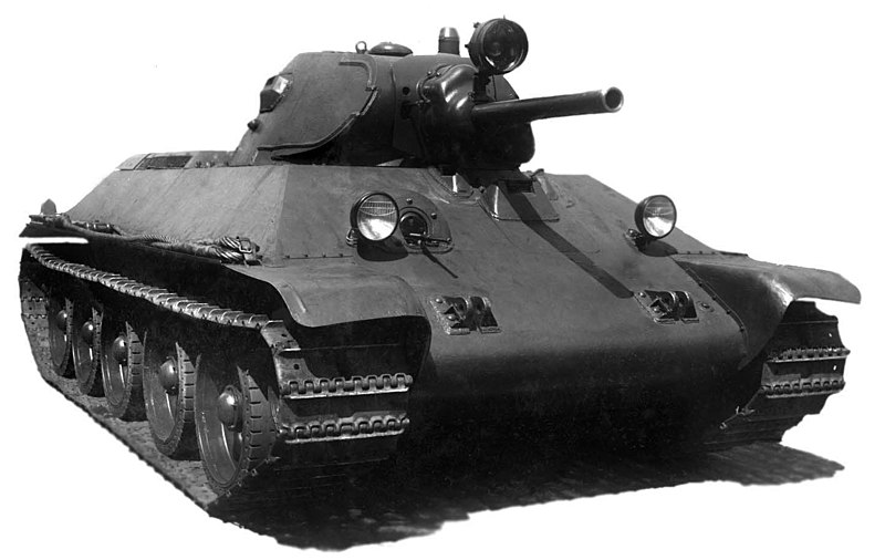 The T-34 model 1940, the first mass production model. The 1941 had many differences, mostly aimed towards easier production.