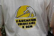 """Tee-shirt d'un """"faucheur volontaire"""""""