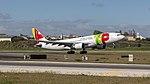TAP A330-200 rocketing out of Lisbon (40589888643).jpg