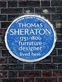THOMAS SHERATON 1751-1806 furniture designer lived here.JPG