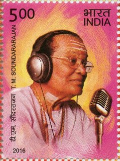 T. M. Soundararajan Indian singer