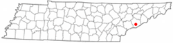 Location in Sevier County, Tennessee