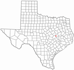 Location of Calvert within Texas