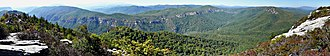 Linville Gorge Wilderness - Image: Table Rock Pano 27527