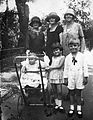 Tableau, kid, doll, baby carriage, woman, hat, kids, boy, girl Fortepan 19466.jpg