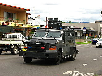 Lenco BearCat - New South Wales Police Force Tactical Operations Unit Lenco BearCat armoured rescue vehicle.