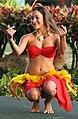 Tahitian dancer in action, Poipu, Kauai, Hawaii (4829087155).jpg