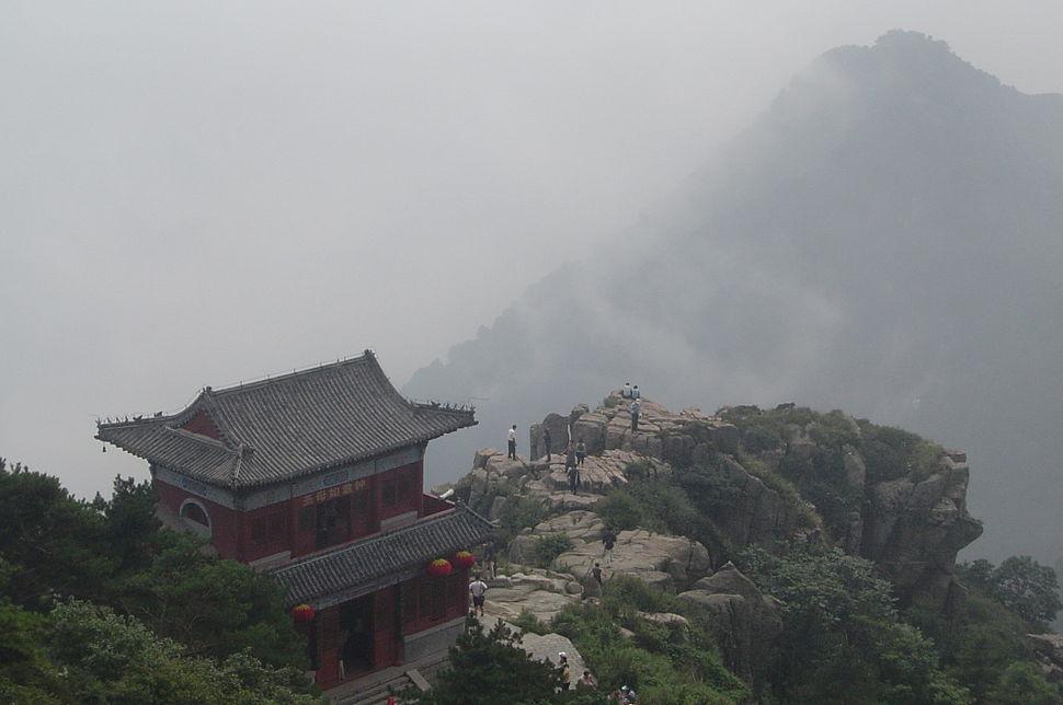 Taishan - cliff and peak