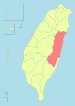Location of Hualien County in Taiwan